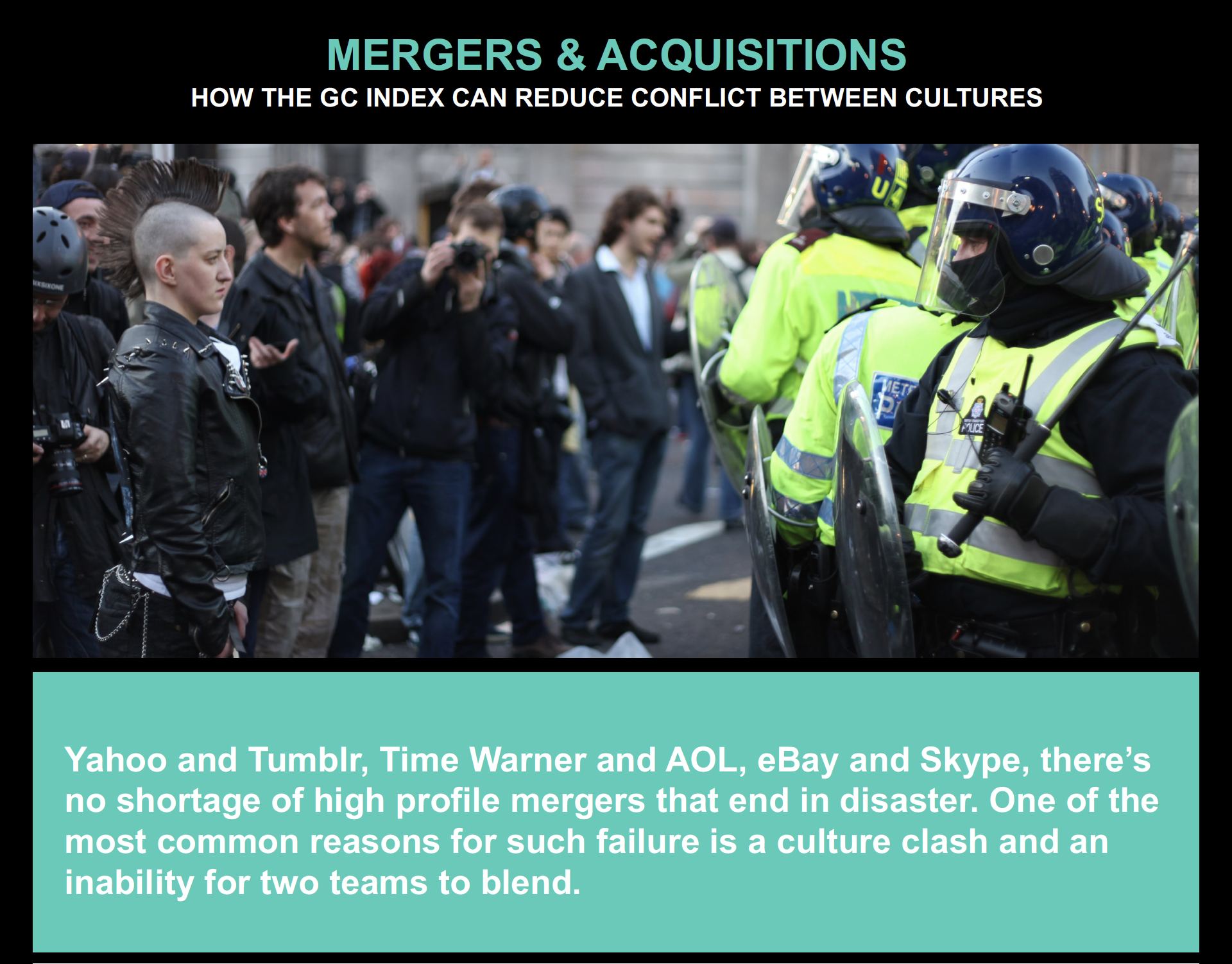 Mergers & Acquisition: HOW THE GC INDEX CAN REDUCE CONFLICT BETWEEN CULTURES