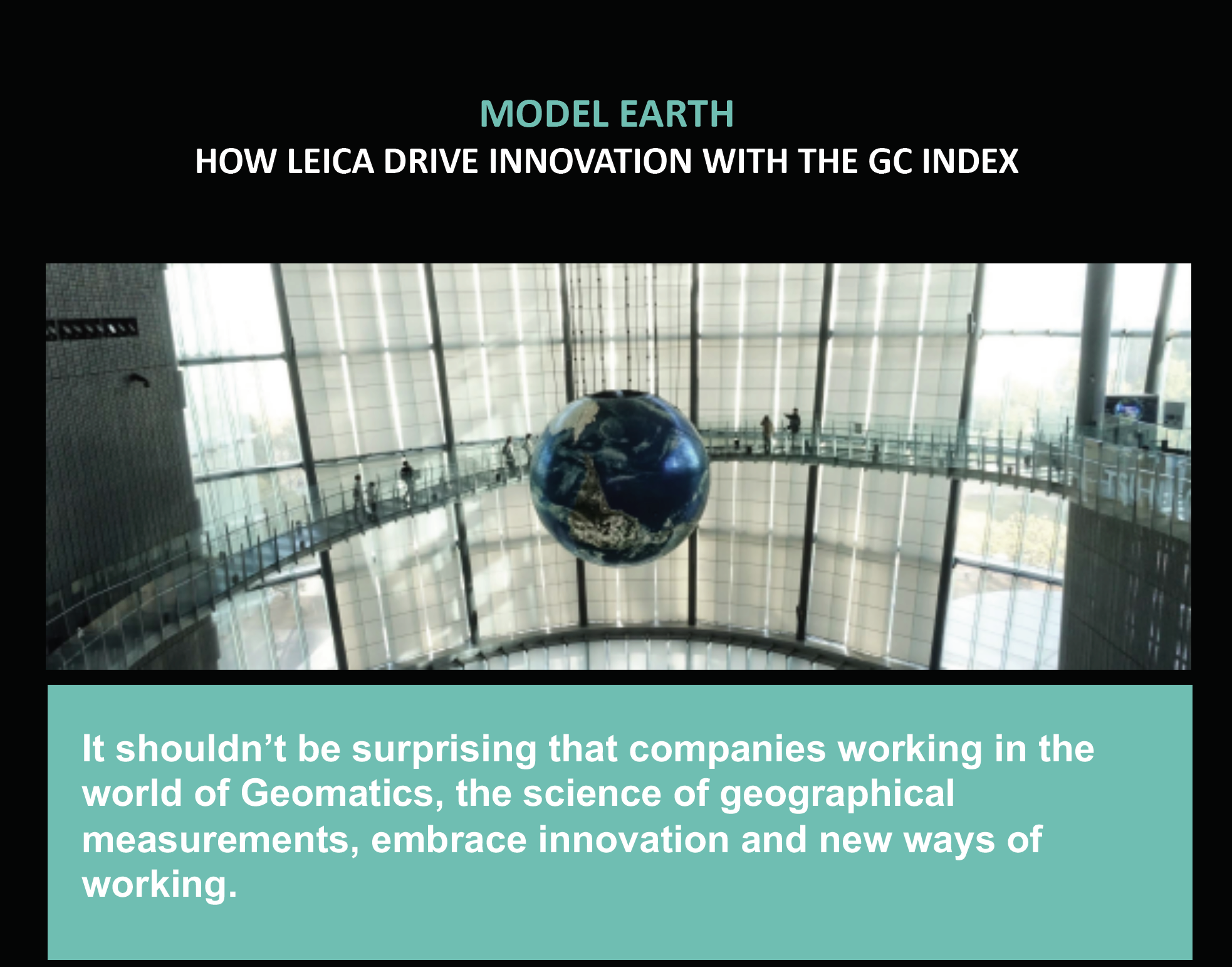 LEICA GEOSYSTEMS USE THE GC INDEX<sup>®</sup> TO DRIVE GROWTH & INNOVATION